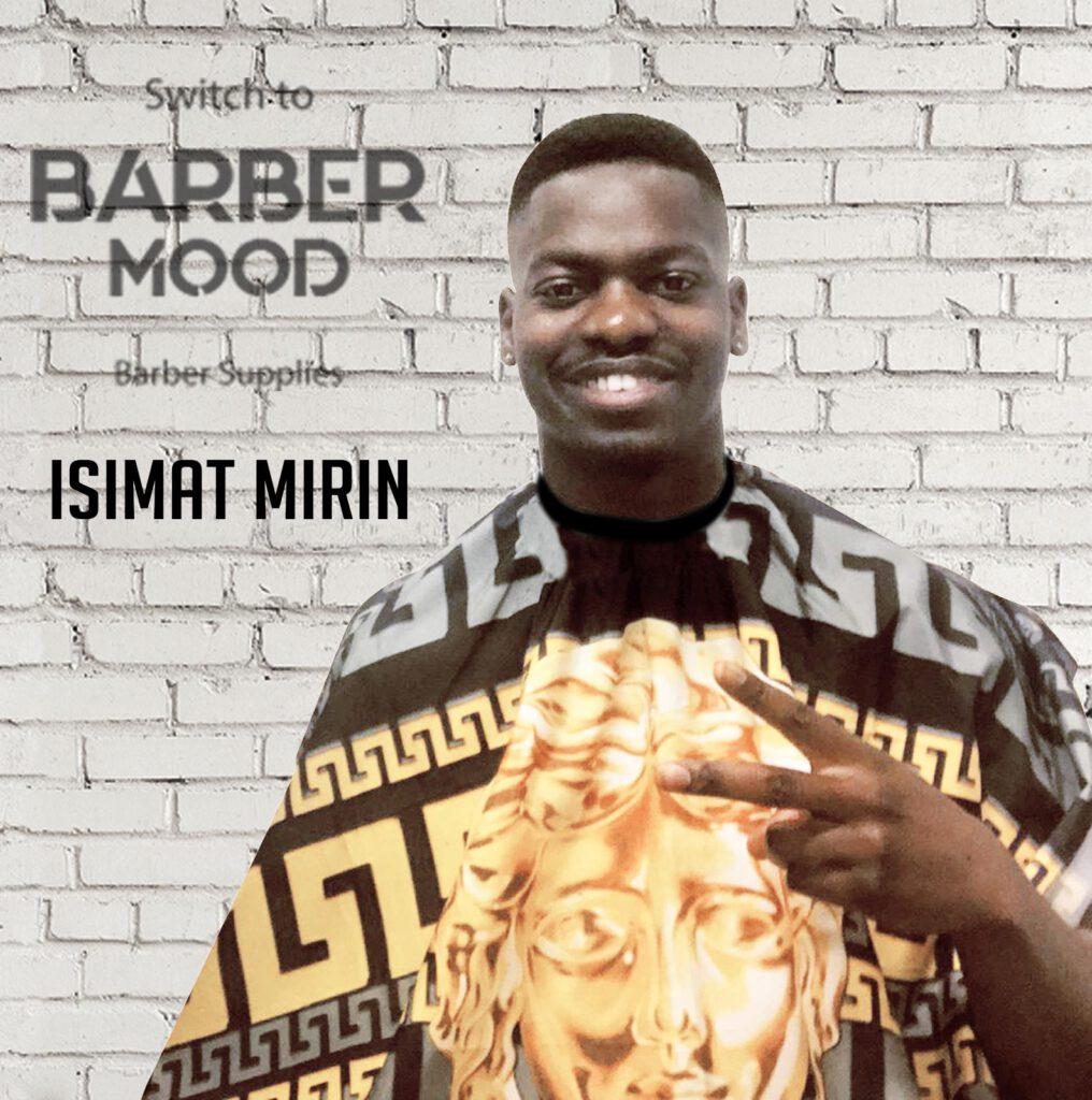 İsimat MIRIN 'da Barber Mood'u sevdi. Futbolcu üzerindeki ürünümüz Black Gold Cape - Penuar ürünüdür.