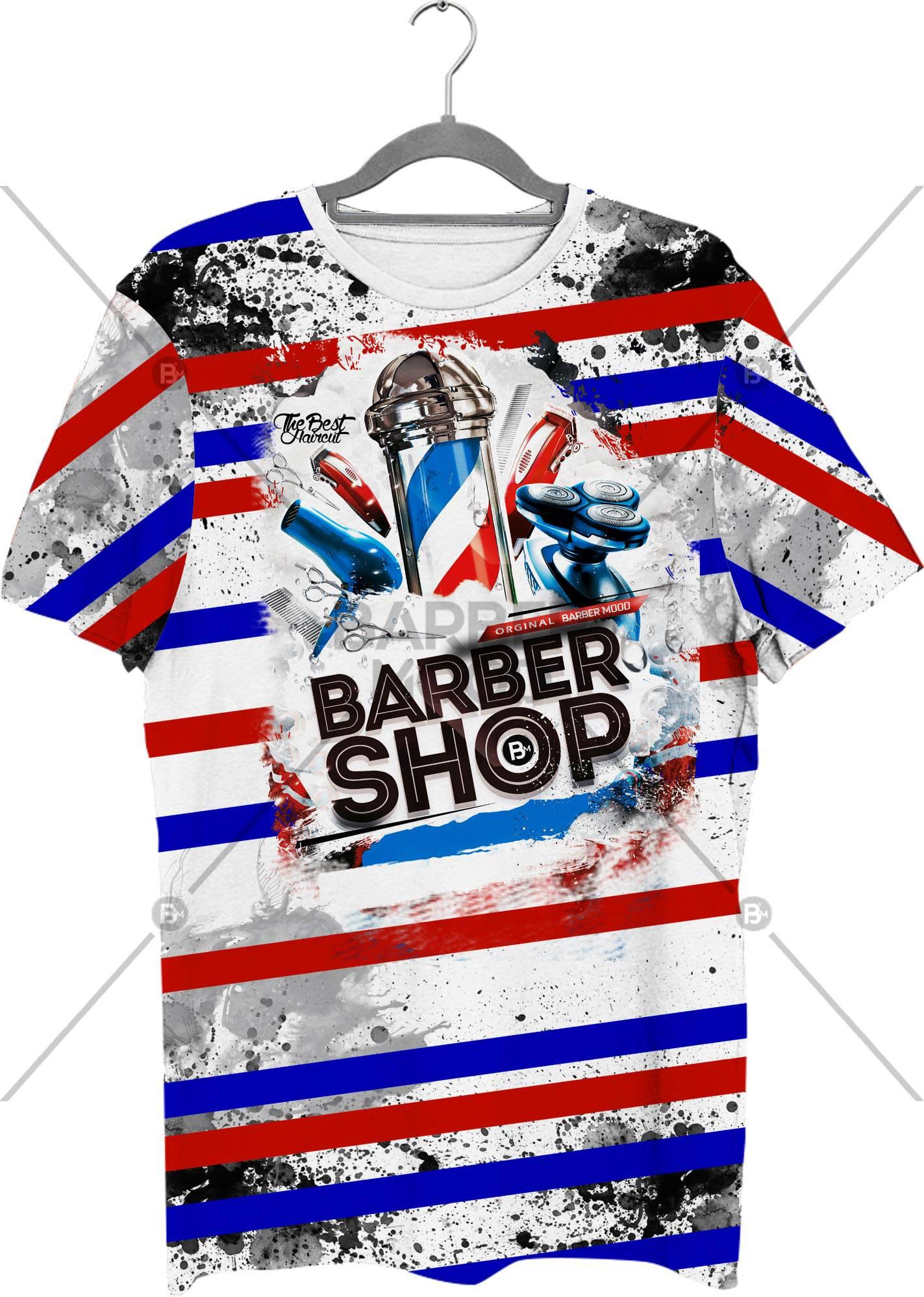 Full Baskılı Tişört - BM- Tshirt 09 ürünü kuaför ve berberlerin en çok tercih ettiği bir üründür. Firma logonuz ile baskı yapılabilir.